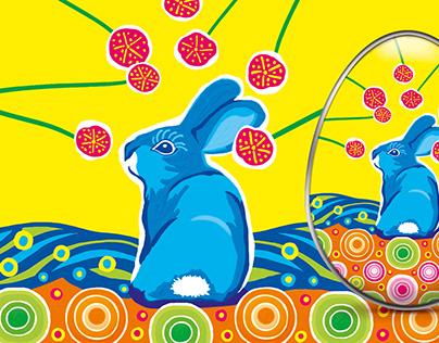 Packaging Design, Tin Easter Eggs, Digital Painting
