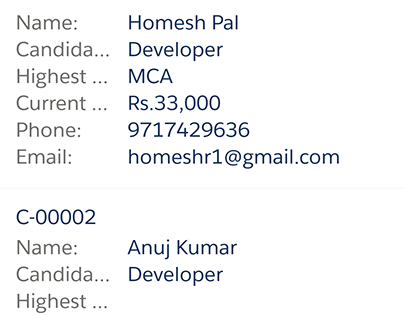 Salesforce Recruitment App