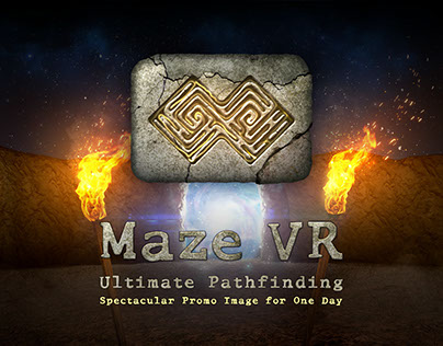 Promo Materials for Maze VR Game