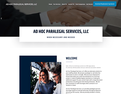 Paralegal Service Website Development