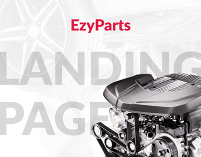Landing page for Ezyparts.kz