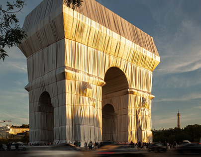 Christo and Jeanne Claud's: Arc de Triomphe Wrapped