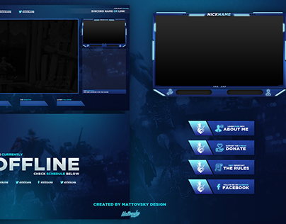 FREE TWITCH STREAM OVERLAY TEMPLATE 2018 #5
