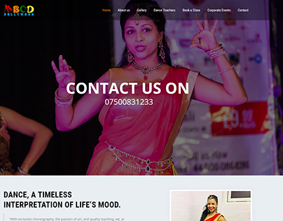ABCD Bollywood website designed and developed.