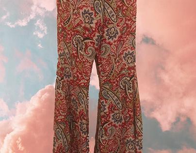 bohemian wide legged pants