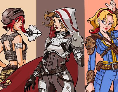 Game Girls | Fanart