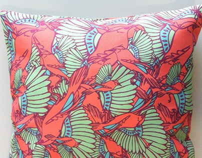 Hummingbirds pattern collection for pillows