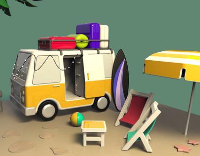 Caravan 3D Modelling