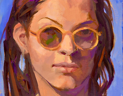 """Melanie"" 8""x10"" oil on canvas"