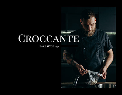 """Web design and identity for bakery """"Croccante"""""""