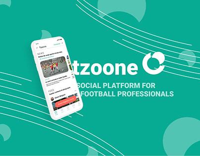 tzoone - social platform for football professionals.