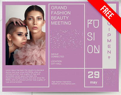 Fashion Flyer - free Google Docs Template