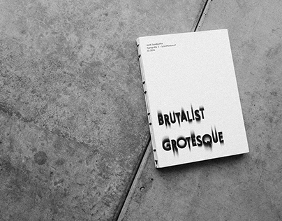Typeface Brutalist Grotesque