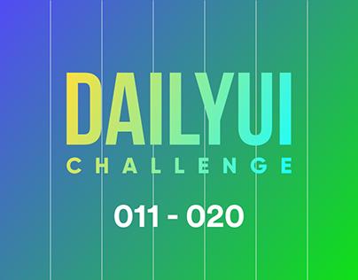 DailyUI Challenge - 011 to 020