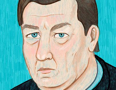 Aki Kaurismäki portrait.