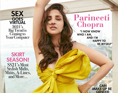 Cover Shoot: Cosmopolitan India - Parineeti Chopra