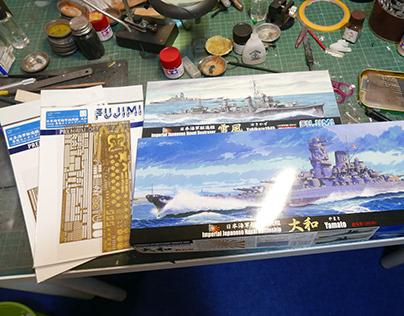 [Working] 1/700 IJN Yamato&Yukikaze