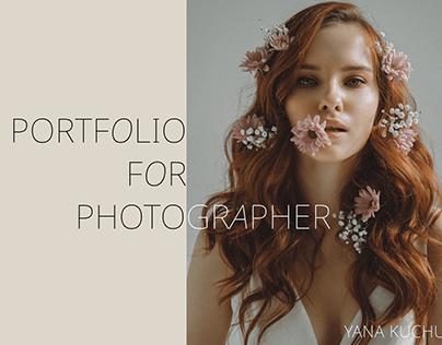 Portfolio site for photographer
