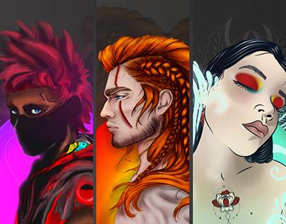 Ilustración de Personajes digitales