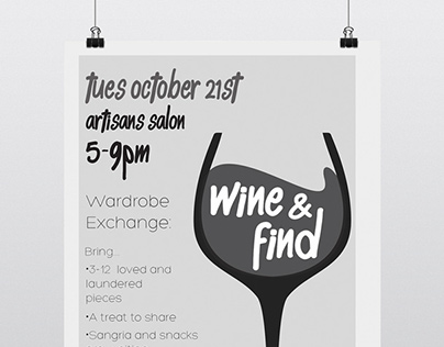 Wine and Find Flyer