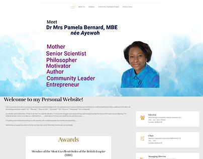 Dr Mrs Pamela Bernard Portfolio Website