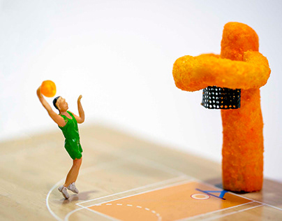 basketbaal stop motion with lina snack
