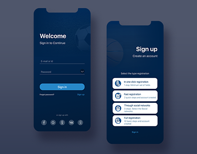 Ui/Ux Registration and authorization