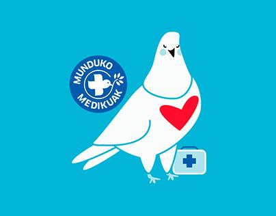 Munduko Medikuak | Mascota corporativa