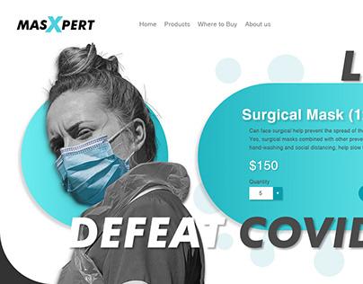 【UI/ Web】Masxpert Masks Store