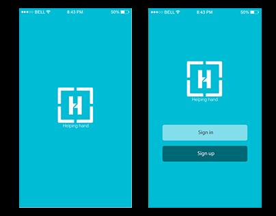 Helping Hand app design