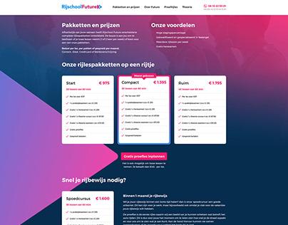 Driving School Web Design
