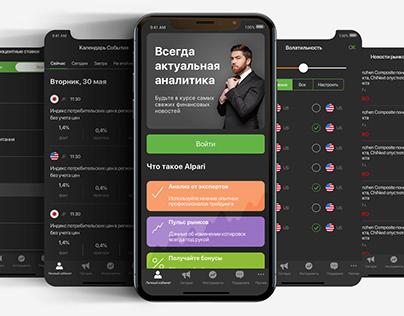 Ui/Ux Design Mobile APP Alpari
