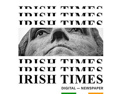 THE IRISH TIMES — New website
