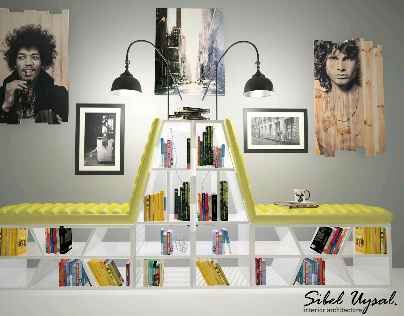 Book Chair /Kitaplık & koltuk