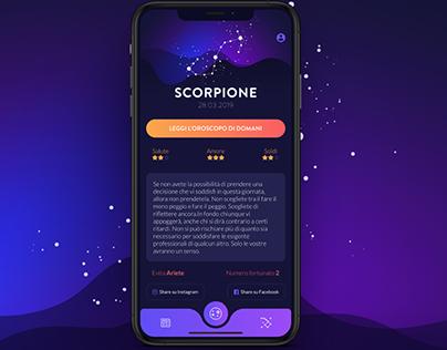Oroscopo app design