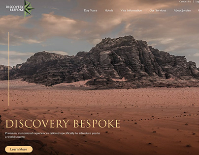 Discovery Bespoke Website