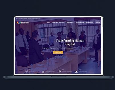 Corporate Website for Delight Africa