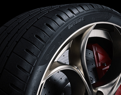 Alfa Romeo Giulia Tire - Full CGI & Retouching