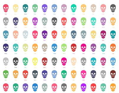Pantone Skulls