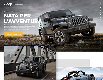 Jeep Wrangler website redesign concept