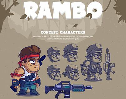Game Art - Legend Of Rambo
