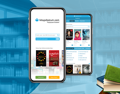 Kitap Dostum Mobile App Ui Design