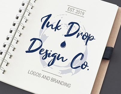 Ink Drop Design Co Logo and Branding Design