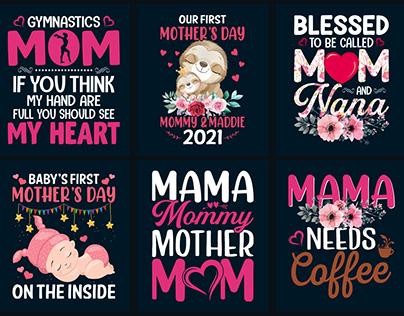 Mothers Day T-Shirt Design Bundle