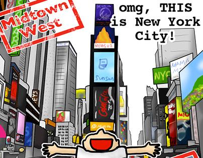 New York City Neighborhood Guide ニューヨーク・ガイドのイラスト