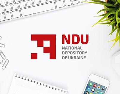 NDU. Logo design, corporate style, brandbook