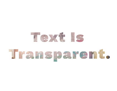 See Through Text Effect with CSS