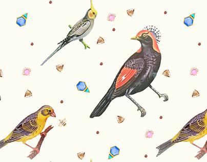 Pattern design Bling Birds 8 Edouard Artus ©2017