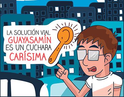 Comic informativo de la Solución Guayasamín