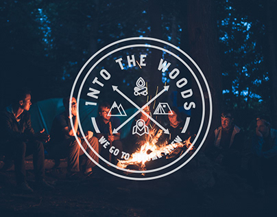 INTO THE WOODS logo + promo materials